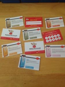 Husse cards printed