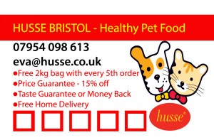 Loyalty Card - business card size - Husse North Bristol